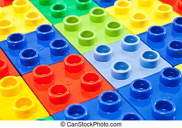 Building blocks background - Background of plastic building...