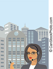 Business lady in downtown