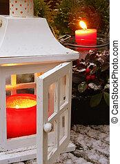Lantern in the winter
