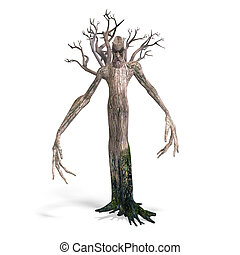 The Ent - Keeper of the forest 3D rendering with clipping...