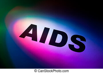 AIDS - Color light word AIDS for background