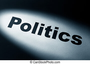 politics - light and word of politics for background