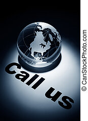 Call us - globe, concept of Call us