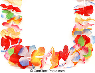 Floral Necklace - Traditional Hawaiian colorful floral...