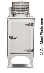 Antique Refrigerator - 1930's era electric refrigerator...
