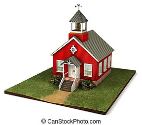 Little Red Schoolhouse - Old style red school house from an...