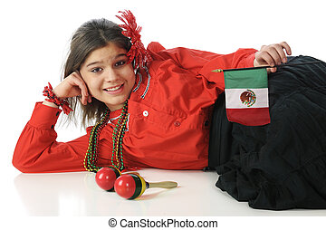 Cinco De Mayo Celetrant - An attractive young teen relaxed...