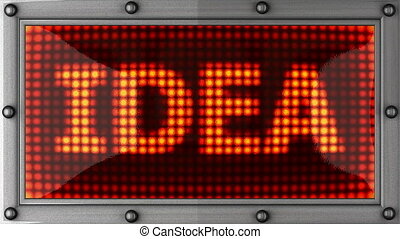 idea announcement on the LED display