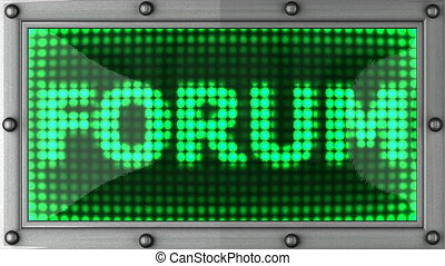 forum announcement on the LED display