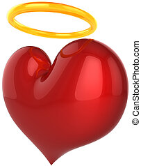 Angel Love heart shape - Heart Angel. Holy Love abstract....
