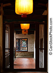 Chinese traditional hallway