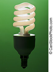 Energy efficient light bulb magically lit