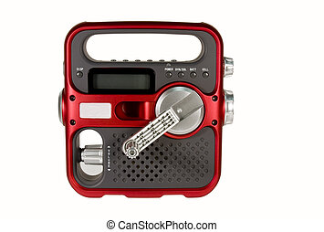hand crank emergency radio - hand crank powered emergency...
