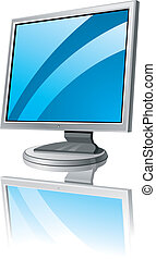 LCD monitor template Vector Illustration EPS v 80