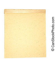 retro writing pad - retro writing pad, isolated on white...