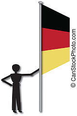 man holding german flag - german flag