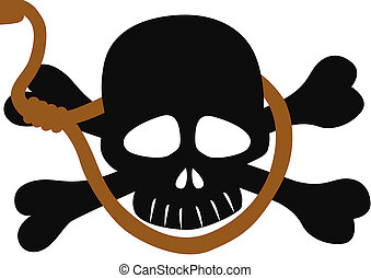 Suicide - Skull and Bones, an abstract image of death. Skull...