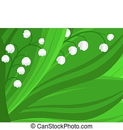 Lily of the valley background