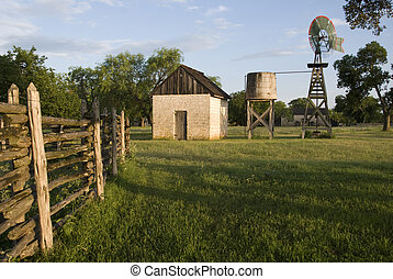 Johnson Ranch - View of the Johnson Ranch with corral...