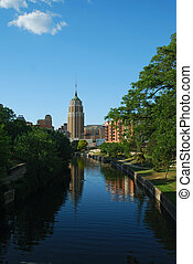 RiverWalk South View - The famous riverwalk viewed from...