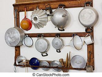 old kitchen equipment