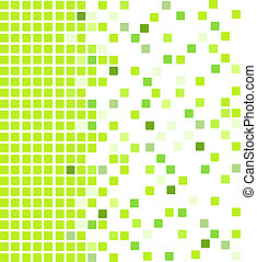 Green mosaic background - Simple vector mosaic background in...