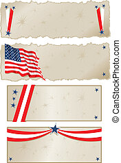 Americana Banners - Vector art in Illustrator 8 Banners with...