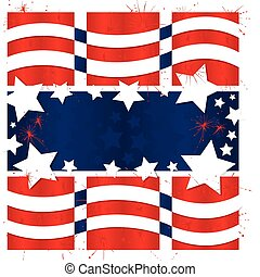 Americana Graphic - Vector art in Illustrator 8. The red,...