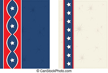 Americana Postcards - Vector art in Illustrator 8 Set of two...