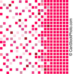 Pink vector mosaic background