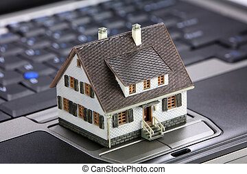 Online real estate concept