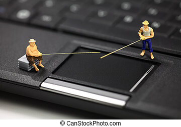 Online phishing and identity theft concept - Miniature...