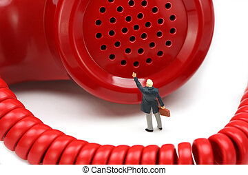 IT support or customer service concept - Miniature...