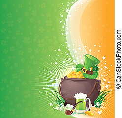 Saint Patricks Day background - St Patrick background vector...