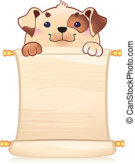 Dog with scroll - A Template for your design also dog as...