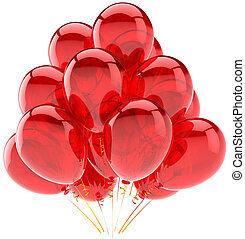Red party balloons decoration - Party balloons translucent...
