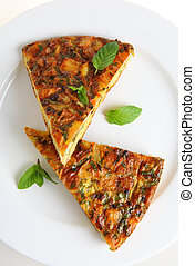 Vertical Spanish omelet