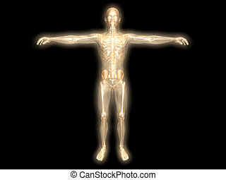 Energy body - 3D rendered visualization of the energy astral...