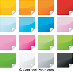 colorful sticker , postit set