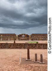 Ruins of Tiwanaku, Bolivia, South America
