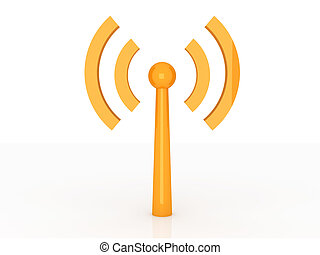 Wireless Antenna	 - 3D rendered Illustration.
