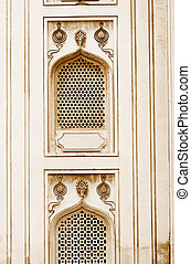 Architecture of historic charminar - Nijam style windows on...