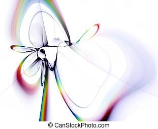 rainbow ribbon - abstract rainbow ribbon isolated on white...