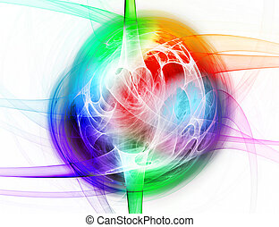abstract spectrum lines on a white background