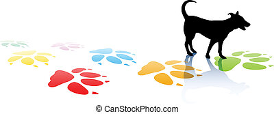 Doggy - Editable vector illustration of a young dog...