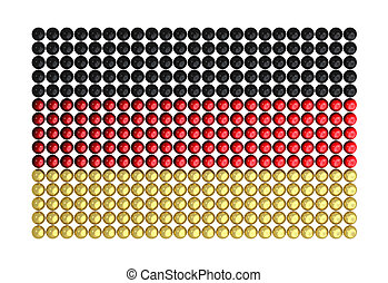 Flag Germany made from hundreds of