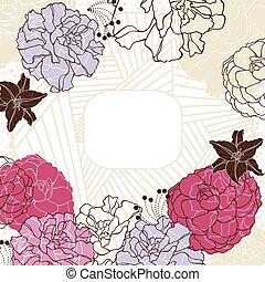 lovely floral frame
