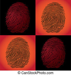 fingerprints detailed illustration pop art style
