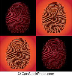 fingerprints detailed illustration pop art style