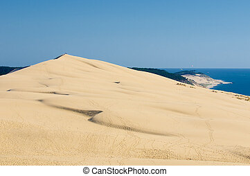 Pyla dune, the largest sand dune in Europe